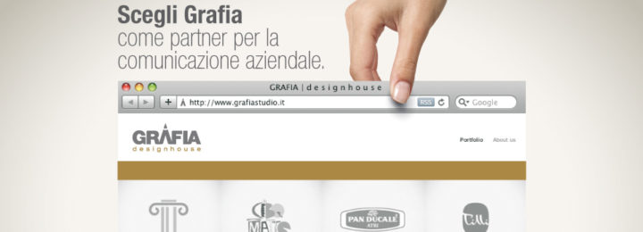 La campagna advertising Grafia